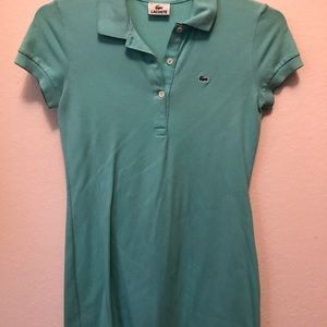 Teal Lacoste Polo Dress